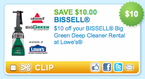 Lowes 10 Off Big Green Deep Cleaner Rental 14 99 A Day