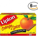 Amazon: 120 Lipton Flavored Black Tea, Orange & Spice Tea Bags (pack of 6) ONLY $7 Shipped!
