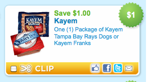 Screen shot 2011 05 06 at 8.59.44 AM $1.00 Off One Package of Kayem Hot Dogs Coupon