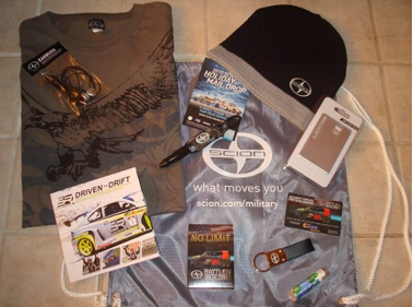 Screen shot 2011 06 16 at 11.55.47 AM FREE Scion Military Care Package!