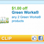 Hurry! $1.00 Off Any 2 Green Works Products Coupon!