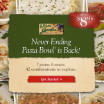 Olive Garden: Never Ending Pasta Bowl is Back $8.95!