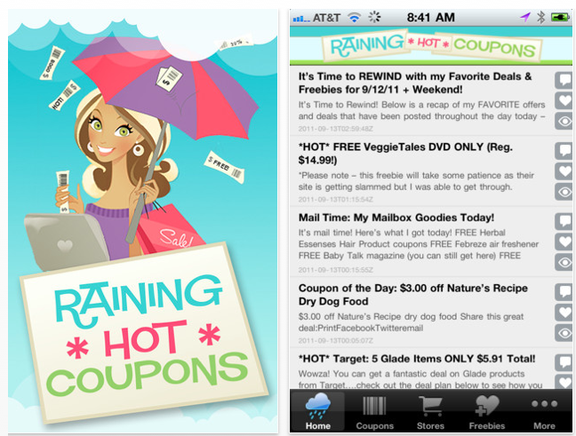 Screen shot 2011 09 13 at 9.53.57 AM *HOT* Its Here! Raining Hot Coupons FREE Mobile APP for iPhone & Android!