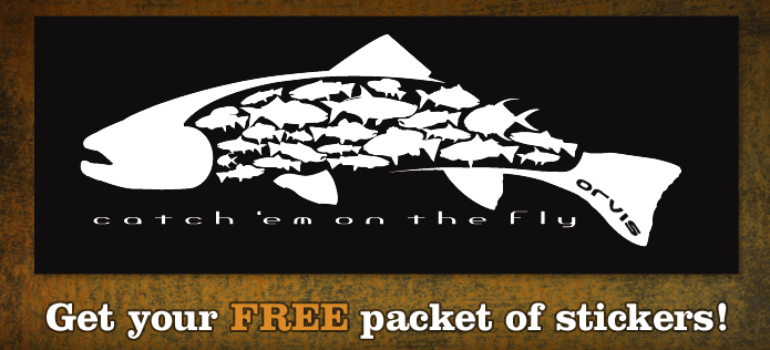 Fly fishing stickers for Free fishing decals
