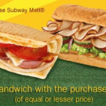 Subway: Buy 1 Sandwich Get 1 FREE (Before 9am)