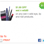 New $1/1 Wet N Wild Product Coupon = FREE Items?!