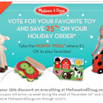 <strike>*Smokin' HOT!* It's a Giveaway: 10 Readers Win BIG Melissa & Doug Toys (Up to $2500.00 Total Value in Prizes)!! & More!</strike>