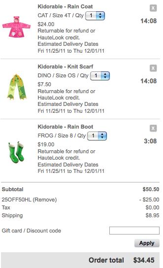 HUGE sale on Kidorable