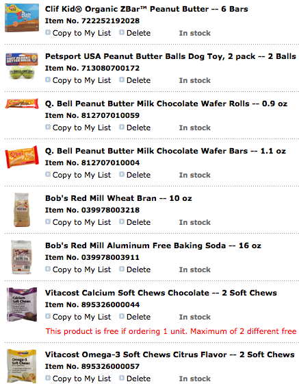Screen shot 2011 11 17 at 10.14.40 AM *HOT* FREE $10 Off ANY Order at Vitacost (I got 8 Items for $6.63 Shipped)!