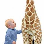 <strike>It's a Giveaway! Melissa & Doug LARGE Stuffed Giraffe ($99.99 Value!)</strike>