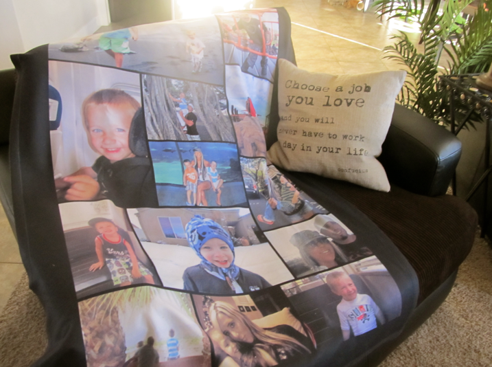 HOT Personalized Fleece Photo Blanket ONLY 4040 Shipping Reg Classy Personalized Blanket Throws