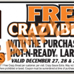 Little Caesars: FREE Crazy Bread when You Purchase a Pizza Coupon