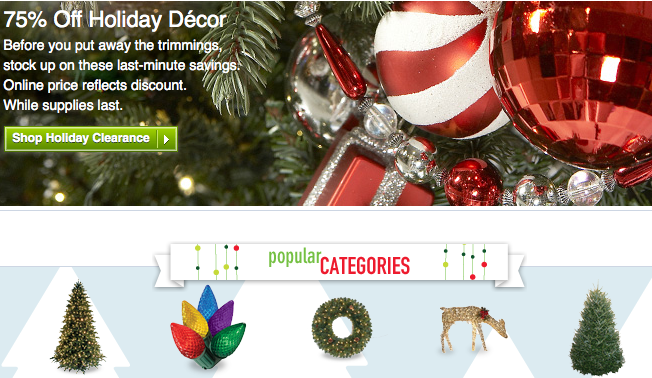 lowes sale on christmas decorations - Christmas Decorations Clearance Online