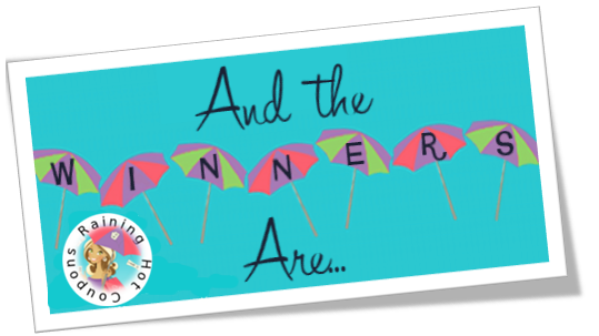 ANDTHEWINNERSARE And the Winner is...(For the $50 Amazon Gift Card Flash Giveaway)