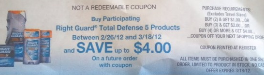 Screen shot 2012 02 23 at 6.34.51 PM *HOT* Walgreens: LOTS of FREE Right Guard Deodorant & Body Wash + Make Money!