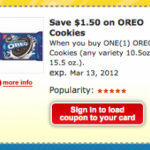 Kroger & Affiliate Stores: $1.50 off ANY One OREO Cookies Coupon!