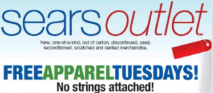 Screen shot 2012 03 06 at 8.22.12 AM Sears Outlet: FREE Apparel Tuesday = 1 FREE Piece of Clothing