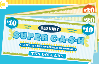 Find the latest Old Navy promo codes, coupons & deals for December - plus earn % Cash Back at Ebates. Join now for a free $10 Welcome Bonus. Shop smarter at Old Navy! $10 Welcome Bonus when you join Ebates today.