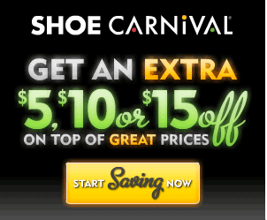 Screen shot 2012 04 11 at 7.57.41 AM *HOT* Shoe Carnival: Surprise Coupon for $5, $10 or $15 off a Purchase! Online or In store!