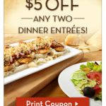 *HOT* Olive Garden LOTS Of Coupons = $5/2 Entrees, FREE Dessert or Appetizer & FREE Kids Meal!