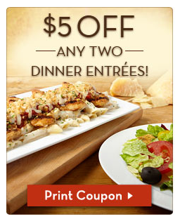 Hot Olive Garden Lots Of Coupons 5 2 Entrees Free