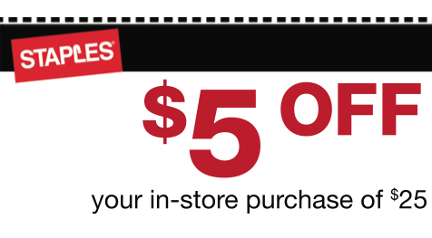 Screen shot 2012 04 23 at 10.56.53 AM Staples: $5 Off $25 Purchase Coupon!