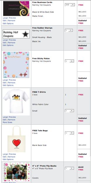 Screen shot 2012 04 30 at 10.54.20 AM *HOT!* Custom T Shirt, 250 Business Cards, Rubber Stamp, Tote Bag, Photo Book ONLY $2.11 Each Shipped!