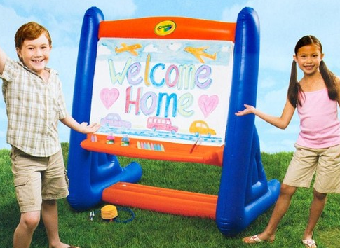 Screen shot 2012 05 22 at 6.10.14 PM Crayola 4.5 ft Giant Inflatable Easel w/ Sidewalk Chalk, Paint, & Giant Brush $19.99 + FREE Shipping (Reg. $65!)