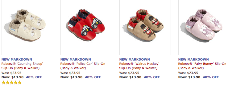 Screen shot 2012 05 24 at 9.17.36 AM Nordstrom: Robeez Infant/Toddler Shoes Only $12.51 + FREE Shipping (Reg. $24!)