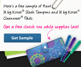 Screen shot 2012 06 18 at 11.42.58 AM *HOT* FREE U by Kotex Tampons, Pads and Cute Clutch!