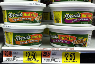 Screen shot 2012 06 27 at 3.21.22 PM Rare $1/1 Dean's Heat 'n Eat Dip Coupon = Only $1.50 at Walmart! (4th of July?!)
