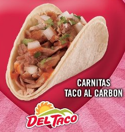 Screen shot 2012 06 28 at 4.18.21 PM Del Taco FREE Carnitas Taco al Carbon Coupon!