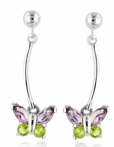 peridotearrings Gorgeous Amethyst and Peridot Earrings for only $19.95 shipped (Reg. $84.99)