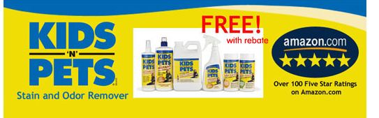 Kidsstain FREE Kids N Pets Stain Remover (After Rebate)