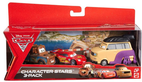Screen shot 2012 07 16 at 9.06.59 AM Amazon: Disney Cars Character Stars 3 pack Only $5.65 Shipped (Reg. $17.99!)