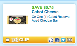 Screen shot 2012 07 17 at 12.52.49 PM *HOT* Walmart: Cabot Reserve Aged Cheddar Cheese Only $1.25 with New Coupon!