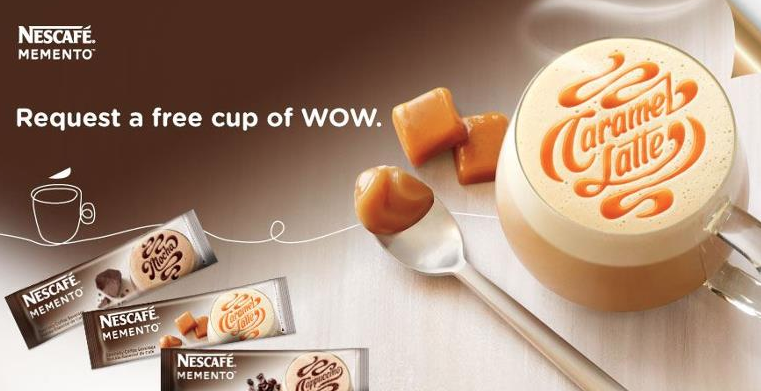 Screen shot 2012 07 18 at 3.16.15 PM FREE Surprise NESCAFÉ MEMENTO (Caramel Latte, Cappuccino or Mocha!)
