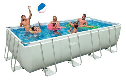 Hot Target Intex 9 X 18 X 52 Ultra Frame Swimming Pool Only 599 Shipped Reg 1