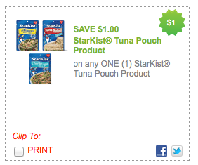Screen shot 2012 07 22 at 10.22.10 PM *HOT* High Value $1/1 ANY StarKist Tuna Pouch Product Coupon = Only $0.12 a Package!