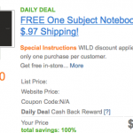 *HOT* FREE Five Star Notebook Shipped (After Cash Back!)