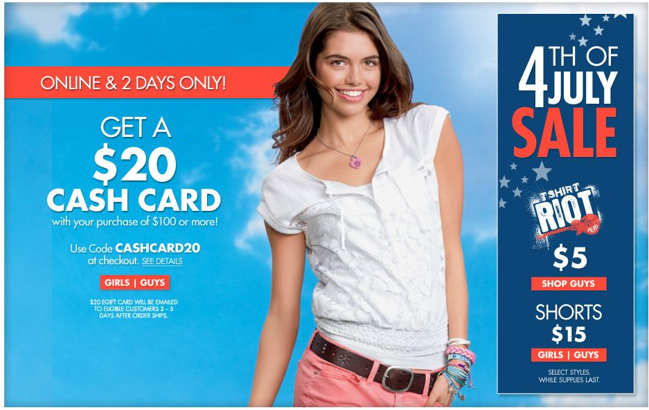 aeropostalesale Aeropostale 4th of July Sale!