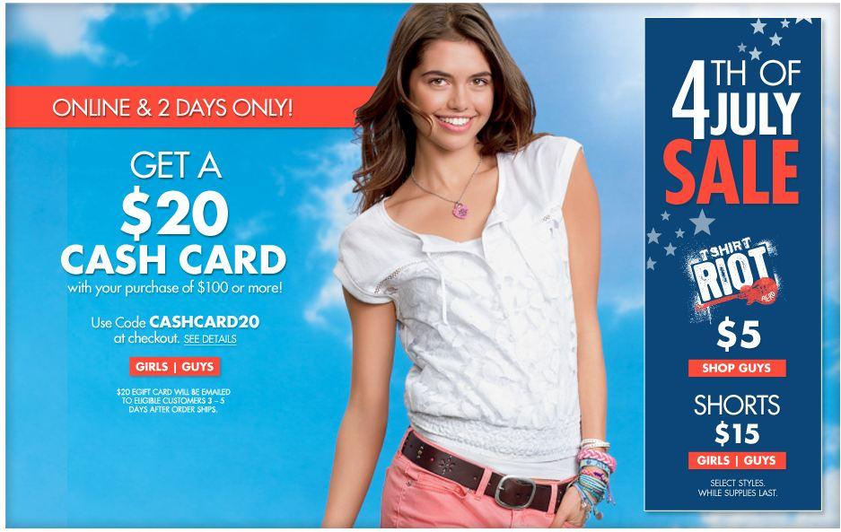 Aerpostale 4th of July Sale