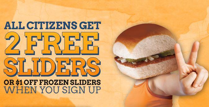 craver FREE 2 Sliders From White Castle