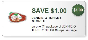 jennocoupon $1/1 Jennie O Sausage Coupon