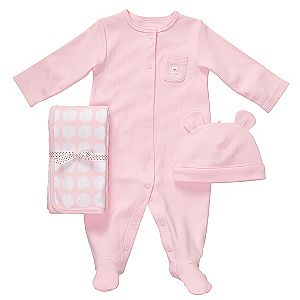 Sears: Carters Infant Girls 3 pc Layette w/ Cap for $6.99 (was $20)