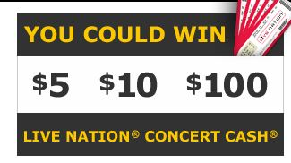 livenation Enter to Win Live Nation Concert Cash!