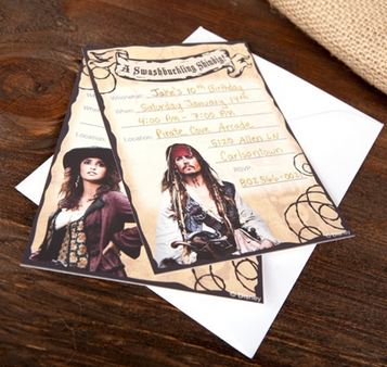 Pirate Of the Caribbean Invitations