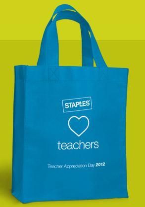Free Bag for Teachers at Staples