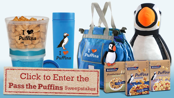 Screen shot 2012 08 12 at 2.00.11 PM Barbaras Bakery Pass the Puffins Sweepstakes: Win Lots of Prizes!