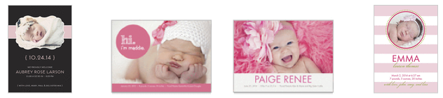 Screen shot 2012 08 17 at 11.02.42 AM *HOT* 3 FREE Birth Announcements + FREE Shipping!